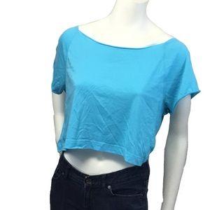 PINK Victoria's Secret Tops - PINK VS Robin egg blue short sleeve crop top